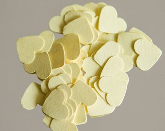 200 Yellow Wedding Heart confetti, heart table scatters, wedding table decor, embellishments, Valentine, Baby shower, bridal shower decor