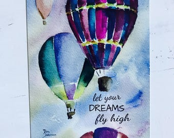 Hot Air Balloon Metal Sign - Outdoor Decor - Home Decor - Quote Sign - Birthday Gift