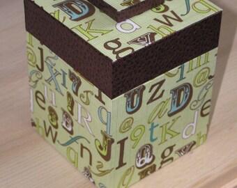 Cardboard box letters