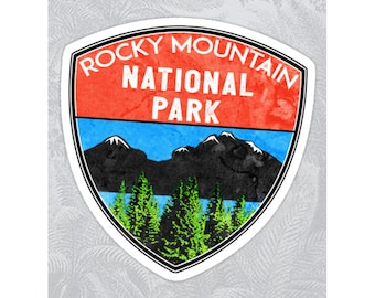 "Rocky Mountain National Park Colorado Sticker Decal Lake Hiking 3.1"" x 3"" Nature"