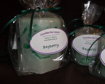Bayberry scented candle set of 4