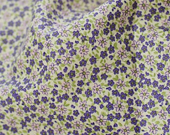 Petit estrella Floral de algodón en violeta, U7021