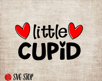 Valentines Day Little Cupid SVG DXF PNG Eps Clip Art Cut Files for Silhouette Cricut Cutting Machines & Sublimation Printing