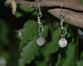 Dew Drop Sterling Silver Knotted Earring