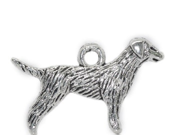5 Pieces Antique Silver Labrador Retriever Dog Charms