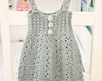 Crochet dress PATTERN - Sea Breeze Dress (sizes up to 10 years)