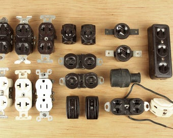 vintage electrical sockets and connectors