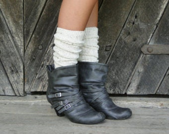 Knee High Boot Socks Oatmeal Blend Cozy Socks Fashion Socks Shirt Socks Boot Cuffs Lounge Socks Women's Accessories Socks with Buttons