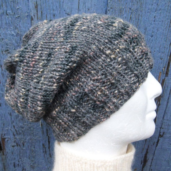 SLOUCHY HAT PATTERN Mens Beanie Knitting Pattern Gift for Men ...