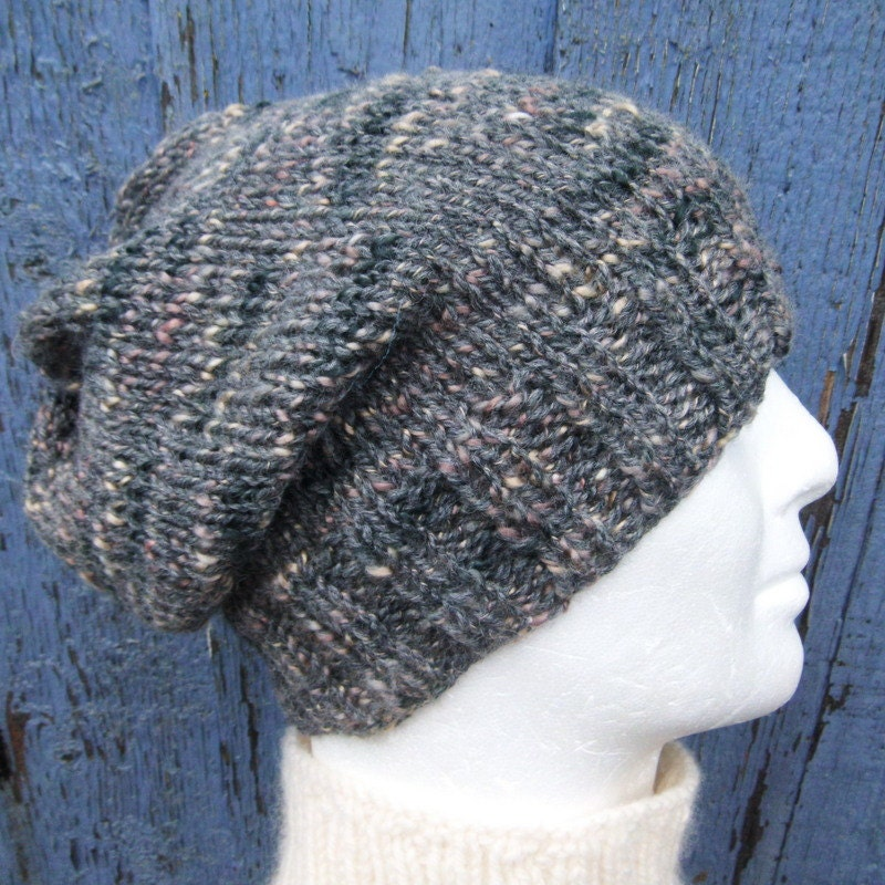 Slouchy Hat Pattern Mens Beanie Knitting Pattern Gift For Men