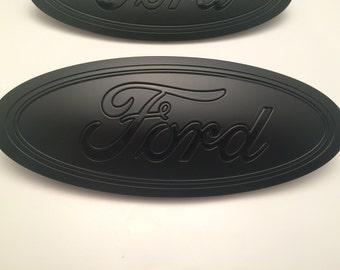 """2015-2016-2017 Ford 9.5"""" oval emblem set,""""Total Matte Finish & logo"""" grille + tailgate,f-150 ford emblem sign"""