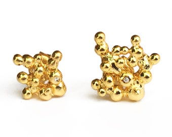 diamond tiny stud RUGIADA TINY earrings