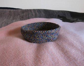 Utensilo Basket Crochet CA 21 x 6 cm/round