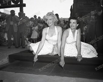 MARILYN MONROE & Jane Russell 5x7, 8x10 or 11x14 Photo Print Hollywood Walk of Fame 1953 Hollywood Classic 1950's Wall Hanging Art
