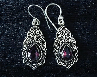 Amethyst Earrings-Find Your Tribe Collection