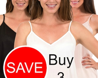 Cotton Camisole | Buy 3 and Save | Choose from Black, White. Crema (Warm Beige) | XS - 5XL