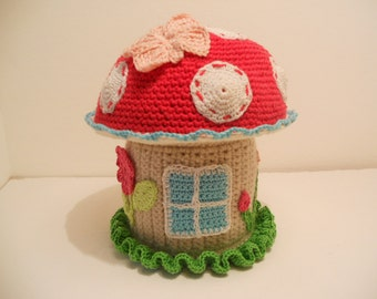 The crochet mushroom box pattern, instant download file, PDF-file, the crochet instructions