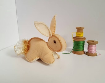 Easter bunny, Cream easter bunny, Easter basket, Spring Stuffed Rabbit, Easter basket, woodland, baby shower gift, easter gift, bunnies