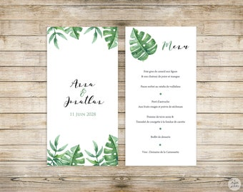 Tropic - Menu - wedding invitation collection