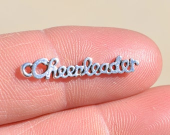 5 Silver CHEERLEADER Charms SC2545