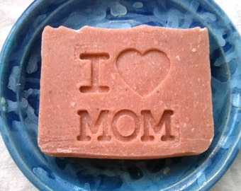 I Heart Mom Lavender Soap by Aquarian Bath - Handmade soap - vegan soap - Mothers Day Gift for Mom or new Mothers