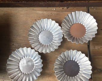 Set of Four Mini Fluted Tart Tins