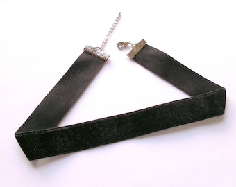 Black Choker Necklace 20mm Choker Necklace Black Velvet Choker 20mm Velvet Choker Plain Choker Velvet Necklace Black Collar Necklace Dainty