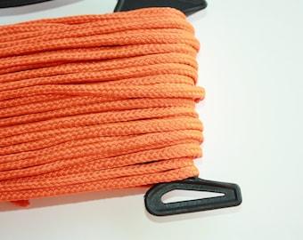 4 mm Braided Cord Polyester = 1 Spool = 27 Yards = 25 Meter Elegant Rope Orange Bulky Yarn Super Bulky Yarn Macrame Cord Vegan Rope Pumpkin