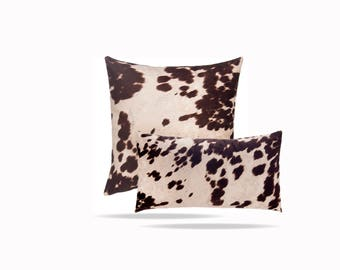 Luxurious Cow Print Throw Pillow With Feather Fill. Sofa Pillow Chair Pillow  Upholstery Weight Quality Pillow Cover