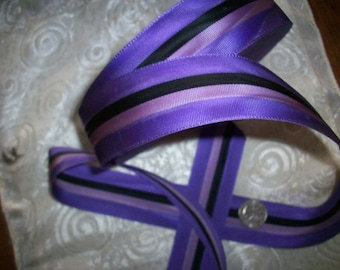 "antique striped grosgrain ribbon 1 1/2"", wonderful colors"
