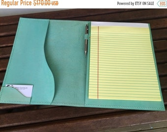 MothersDay/TeachersSale Leather A4 Portfolio* Teal Leather Portfolio* Legal Pad* Legal Pad Cover* Leather Portfoio* Business Writing Pad* Ha