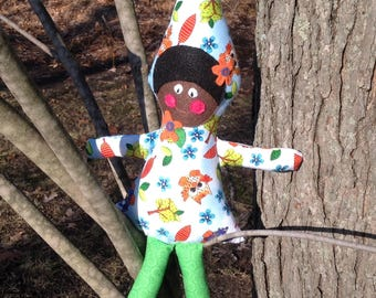 Up North Gnomies, Fabric gnome, tomte, gnome, african american gnome, pluch doll
