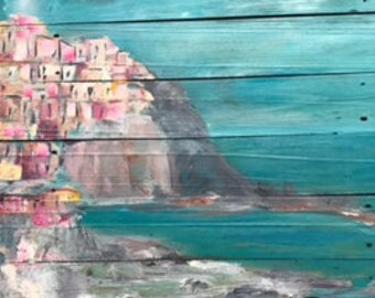 Italian coast Chinqua Terra