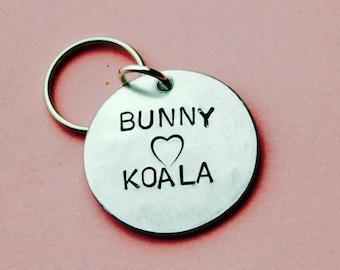 Anniversary gift, Girlfriend gift, Personalised bunny koala, Boyfriend keychain, Gifts for him, Lovers Presents, UK, Custom keyring