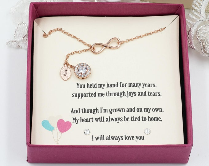 Personalised gift box, keepsake for necklace, mother of the bride, bridesmaids, wedding favours, gift wrap present, personalised message