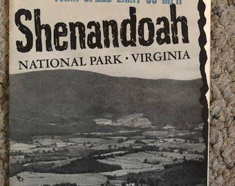 Shenandoah National Park map and guide, 1949