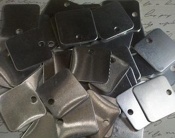 10 Aluminum 1.25 Inch Squares - 18 Gauge
