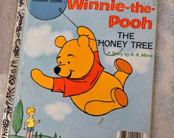 Vintage Children's Book  Winnie the Pooh the Honey Tree Little Golden Book