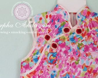 Chinese dress, A-line qipao, girl cheongsam, kid's dress, kid's qipao, girl qipao, PRE-ORDER