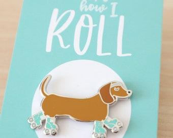 Sausage dog pin / Dachshund pin / Dog enamel pin / Hard enamel pin / Sausage dog gift / Cute enamel pin / Dachshund enamel pin / Dog lapel