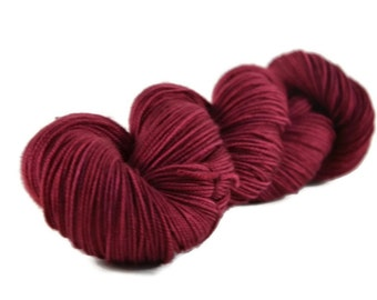 Sport Yarn, Merino yarn, sport weight yarn, superwash wool yarn, 100% Superwash Merino, merino sport weight, pink, purple - Berry