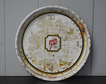 Schlitz Vintage Tin Wall Clock