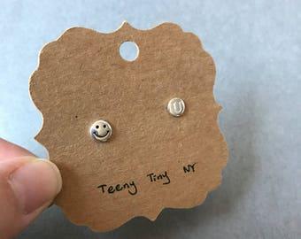 Love U Stud Earrings - Sterling Silver