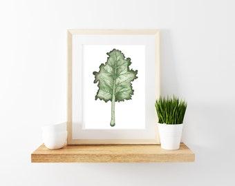 Watercolor Kale Print