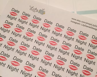 36 Date Night Couples Planner Stickers ECLP Erin Condren Life Planner PPP Plum Paper Reminder Sticker LDD1343
