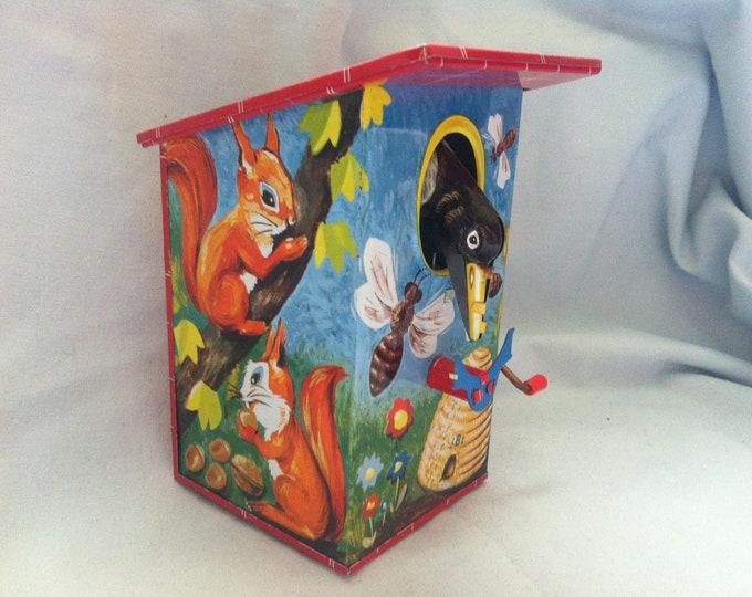 Vintage Money Box Tin toy decoration