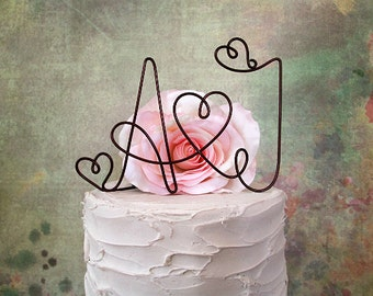 INITIALS Wedding Cake Topper, Rustic Wedding Cake Topper, Wedding Centerpiece, Rustic Cake Decoration, Bridal Shower Party, Engagement Party