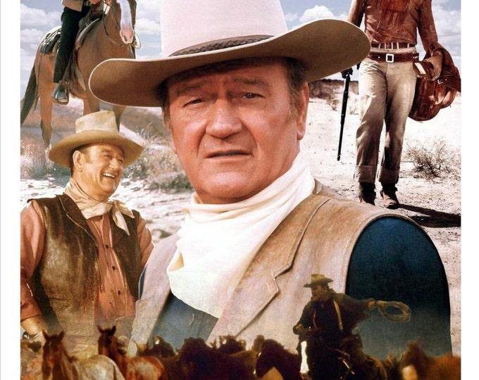 Beautiful John Wayne Montage Showcasing Great Roles - 8X10 or 11X14 Photo (AA-297)/(LG-084)