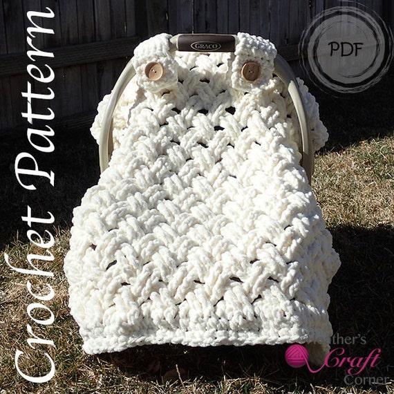 Crochet Pattern Chunky Celtic Weave Car Seat Canopy Photo