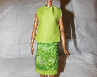 Vert lime modeste éclat jupe & top vert lime pour les poupées de mode - ed911